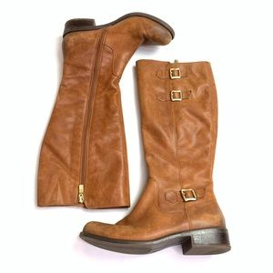 Bcbgeneration Leather Knee High Boots Brown